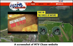 A screenshot of MTV Chase website