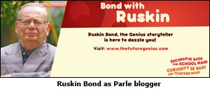 Ruskin Bond as Parle blogger
