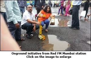 Onground initiative from Red FM Mumbai station