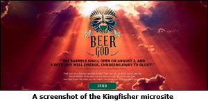A screenshot of the Kingfisher microsite
