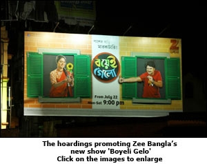 Latest OOH from Zee Bangla to promote its show 'Boyeli Gelo'