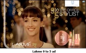 Lakme 9 to 5 ad