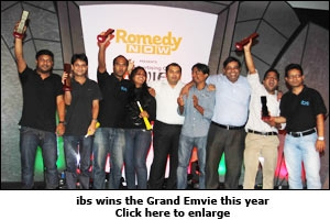 ibs wins the Grand Emvie this year