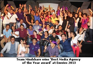 Team Minshare wins 'Best Media Agency of the Year award' at Emvies 2013