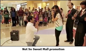 Not So Sweet Mall promotion