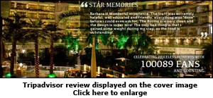 Tripadvisor review displayed on the cover image