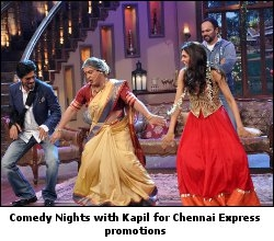 Comedy Nights with Kapil for Chennai Express promotion
