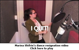 Marina Shifrin's dance resignation video