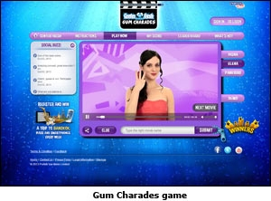 Gum Charades game