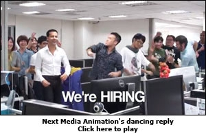 Next Media Animation's dancing reply