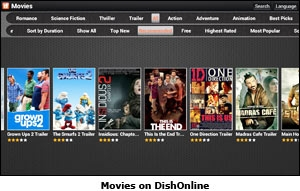 Movies on DishOnline