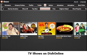 TV Shows on DishOnline