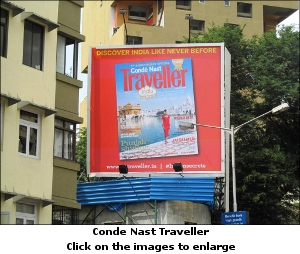 Conde Nast Traveller OOH campaign