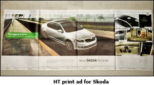 HT print ad for Skoda
