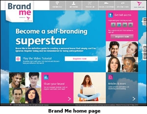 Brand Me home page