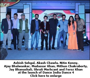 Ashish Sehgal, Akash Chawla, Nitin Kenny, Ajay Bhalwankar, Mudassar Khan, Mithun Chakraborty, Jay Bhanushali, Shruti Merhcant and Feroz Khan at the launch of Dance India Dance 4