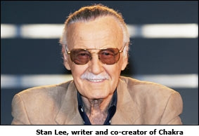 Stan Lee, writer and co-creator of Chakra