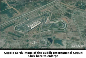 Google Earth image of the Buddh International Circuit