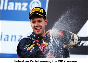 Sebastian Vettel winning the 2012 season