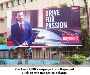 Print and OOH campaign from Raymond