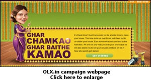 OLX.in campaign webpage