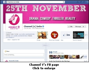 Channel V's FB page
