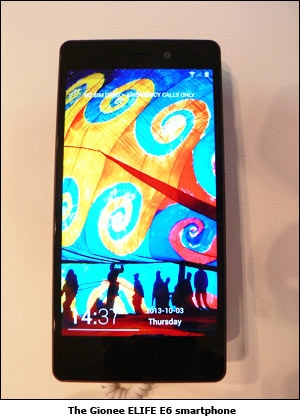 The Gionee ELIFE E6 smartphone