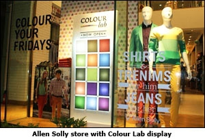 Allen Solly store with Colour Lab display