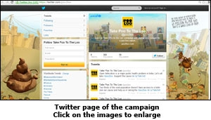 Twitter page of the campaign