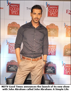 NDTV Good Times announces the launch of its new show with John Abraham called John Abraham: A Simple Life