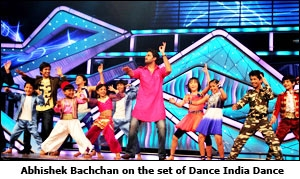Abhishek Bachchan on the set of Dance India Dance
