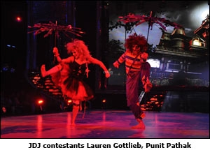 JDJ contestants Lauren Gottlieb, Punit Pathak