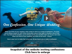 Snapshot of the website inviting confessions