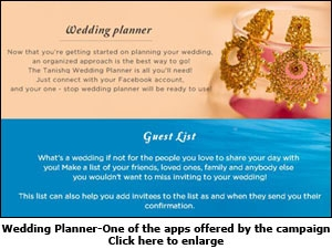 Wedding Planner - One of the apps offered by the campaign