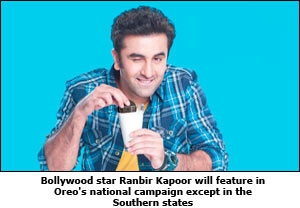 Bollywood star Ranbir Kapoor will feature in Oreo's national campaign except in the Southern states