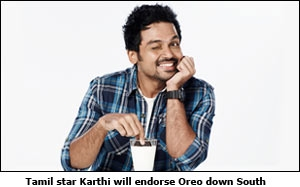 Tamil star Karthi will endorse Oreo down South