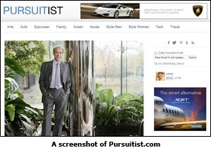 A screenshot of Pursuitist.com