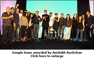 Google team awarded by Amitabh Bachchan