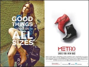 Metro Shoes' print campaign