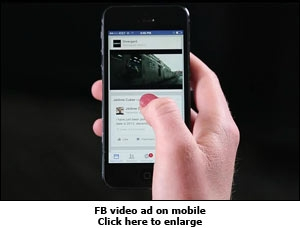 FB video ad on mobile