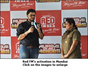 Red FM's activation in Mumbai