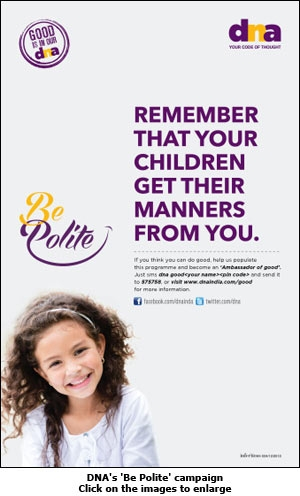 DNA's 'Be Polite' campaign
