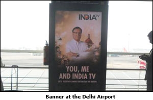 Banner at the Delhi Airport