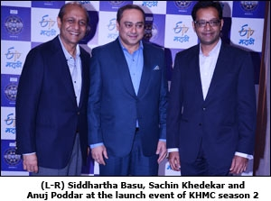 Siddhartha Basu, Sachin Khedekar and Anuj Poddar at the launch event of KHMC season 2