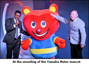 At the unveiling of the Yamaha Motor mascot