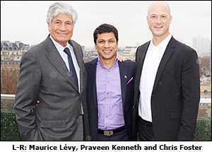 L-R: Maurice L�vy, Praveen Kenneth and Chris Foster