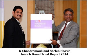 N Chandramouli and Sachin Bhosle launch Brand Trust Report 2014