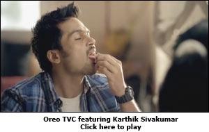 Oreo TVC featuring Karthik Sivakumar