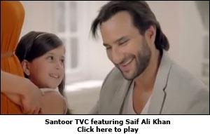 Santoor TVC featuring Saif Ali Khan