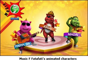 Music F Fatafati's animated characters